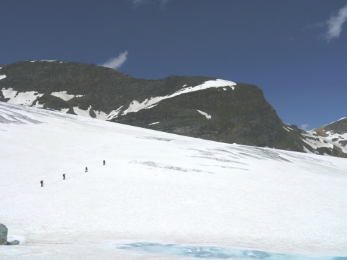 bottom of glacier