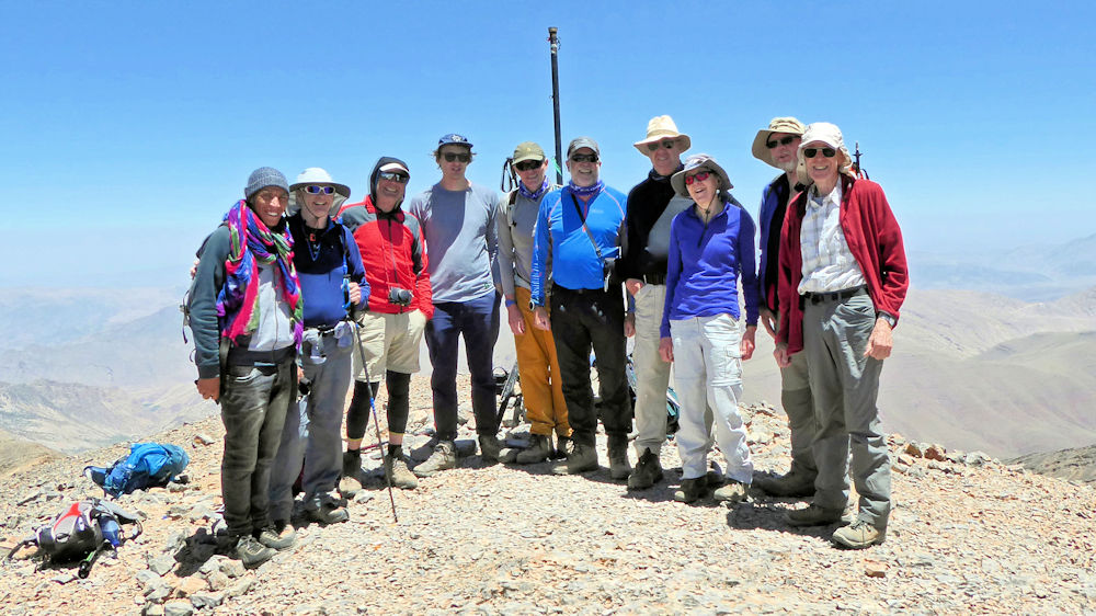 On the Mgoun summit, photo by Ed Bramley