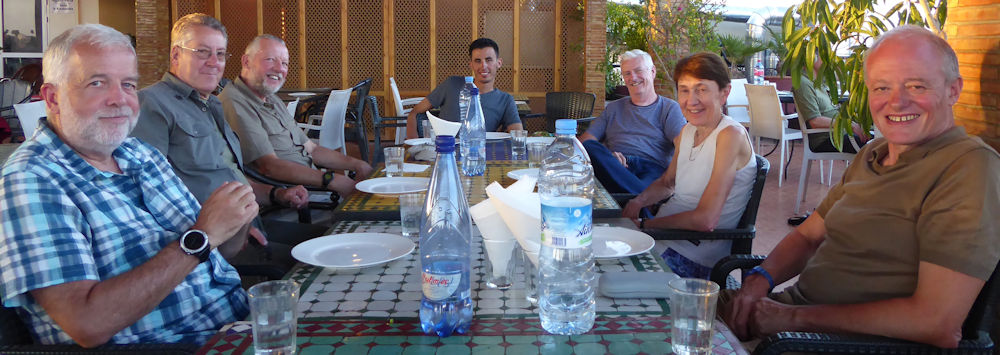 Farewell supper in Marrakesh, photo by Ed Bramley