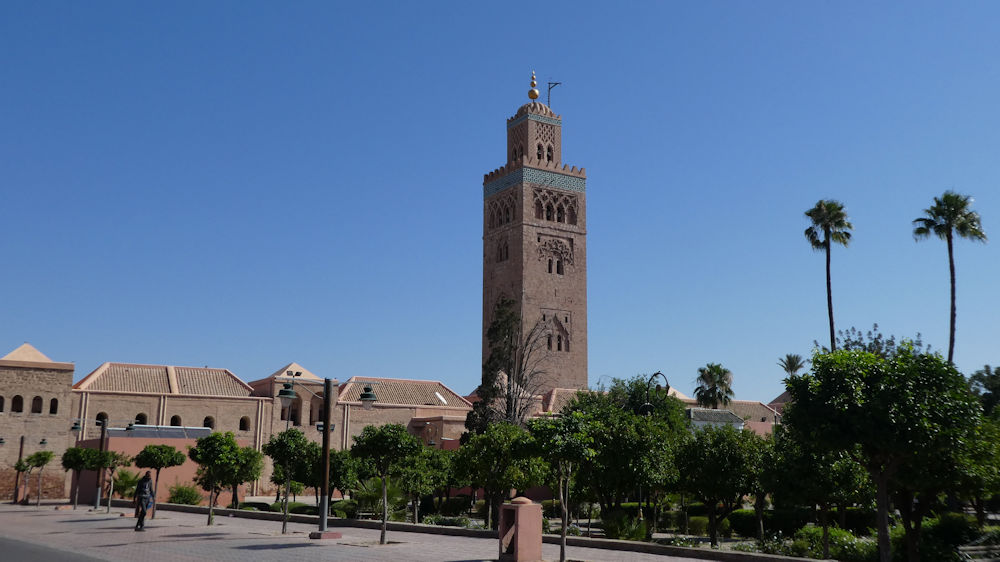 Koutoubia Mosque, Marrakesh, photo by Mike Goodyer