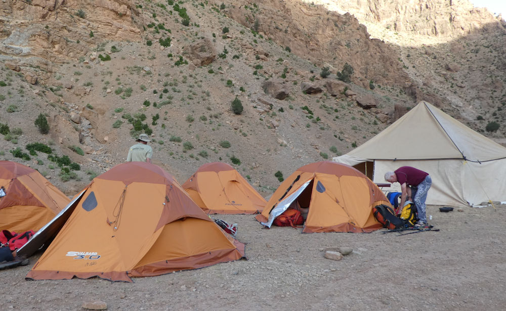 Camp at end of day 4