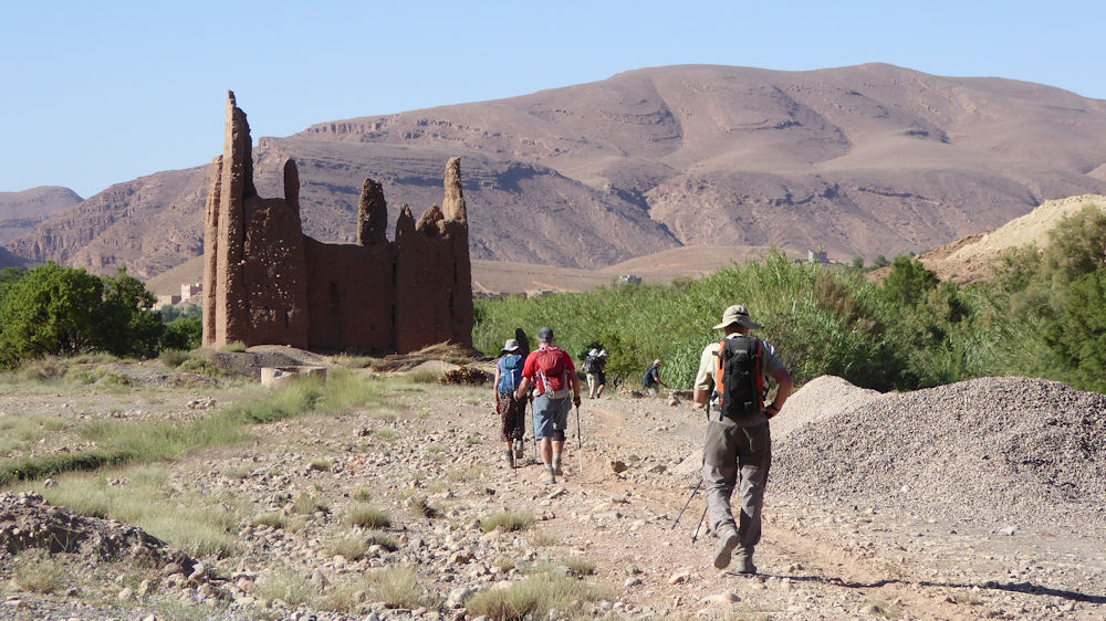 Walking through valleys, villages and Kasbahs