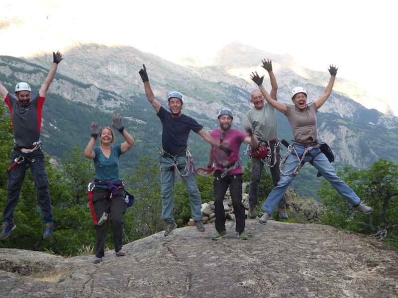 End of the Via Ferrata
