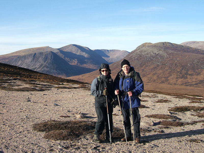 Margaret and Philip on Sgor Mor. Photo by Jim Strachan