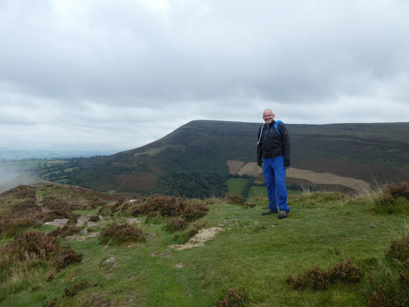 Paul on Crocket Hill with M Troed behind. Photo by Mike Goodyer