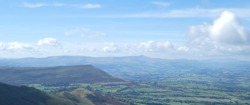 looking across to Brecon Beacons. Photo by Mike Goodyer