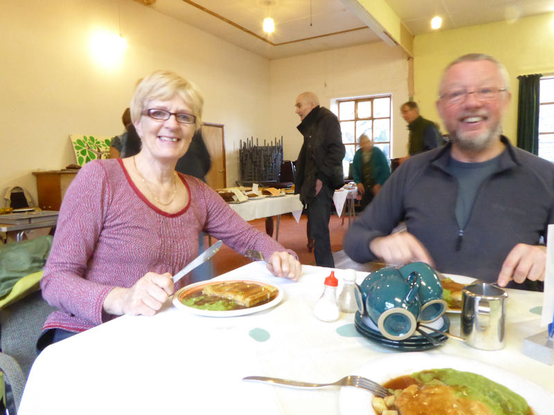 Pop up cafe at Glenridding village Hall, Sunday lunch being served. Photo by Mike Goodyer