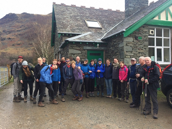 Group outside the George Starkey Hut