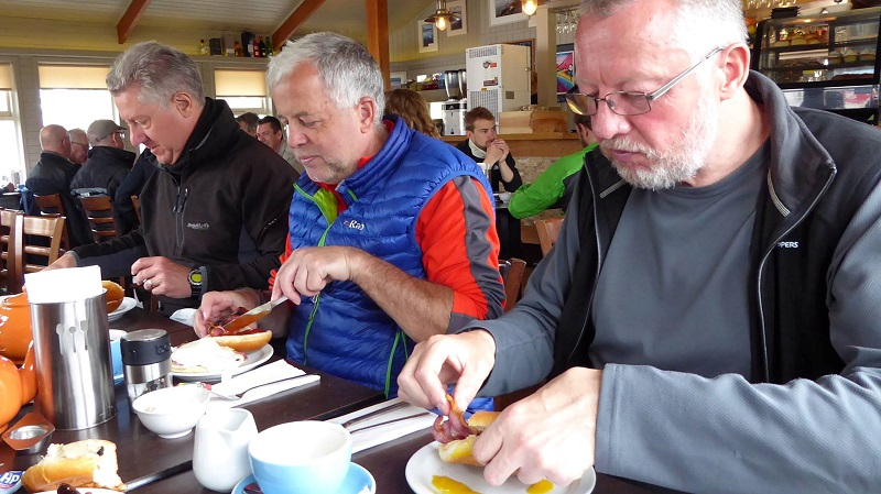 Second breakfast in Broadford. Photo by Ed Bramley