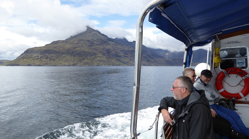 On boat from Elgol to Loch Coruisk. Photo by Mike Goodyer