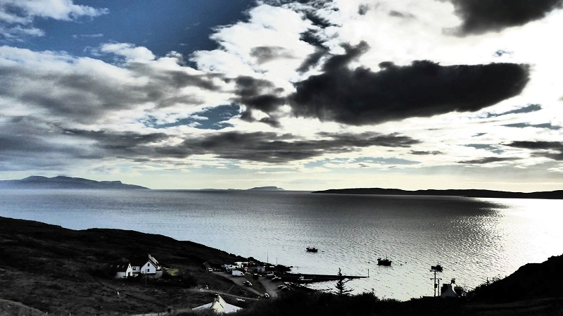 From Elgol looking out to the isles. Photo by Ed Bramley