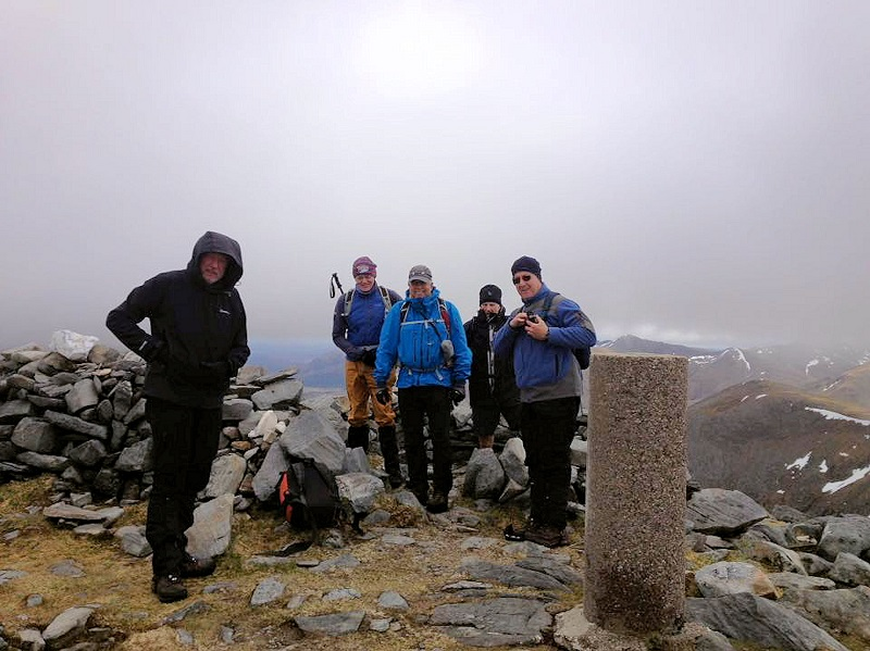 On the misty summit of Beinn Fhada. Photo by Paul Stock