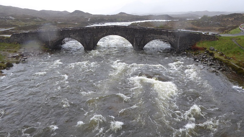 Day 4. Swollen river at Sligachan. Photo by Ed Bramley