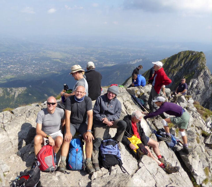 summit of Giewont. Photo by Mike Goodyer