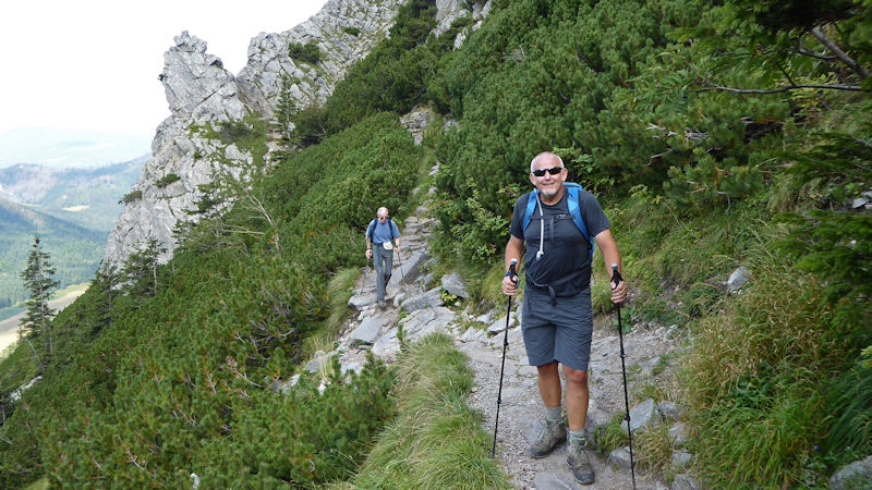 Paul and Myles on the way to Giewont. Photo by Ed Bramley