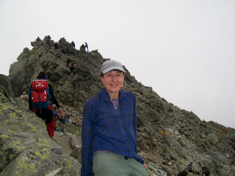 Judy on the summit, photo by Judy Renshaw