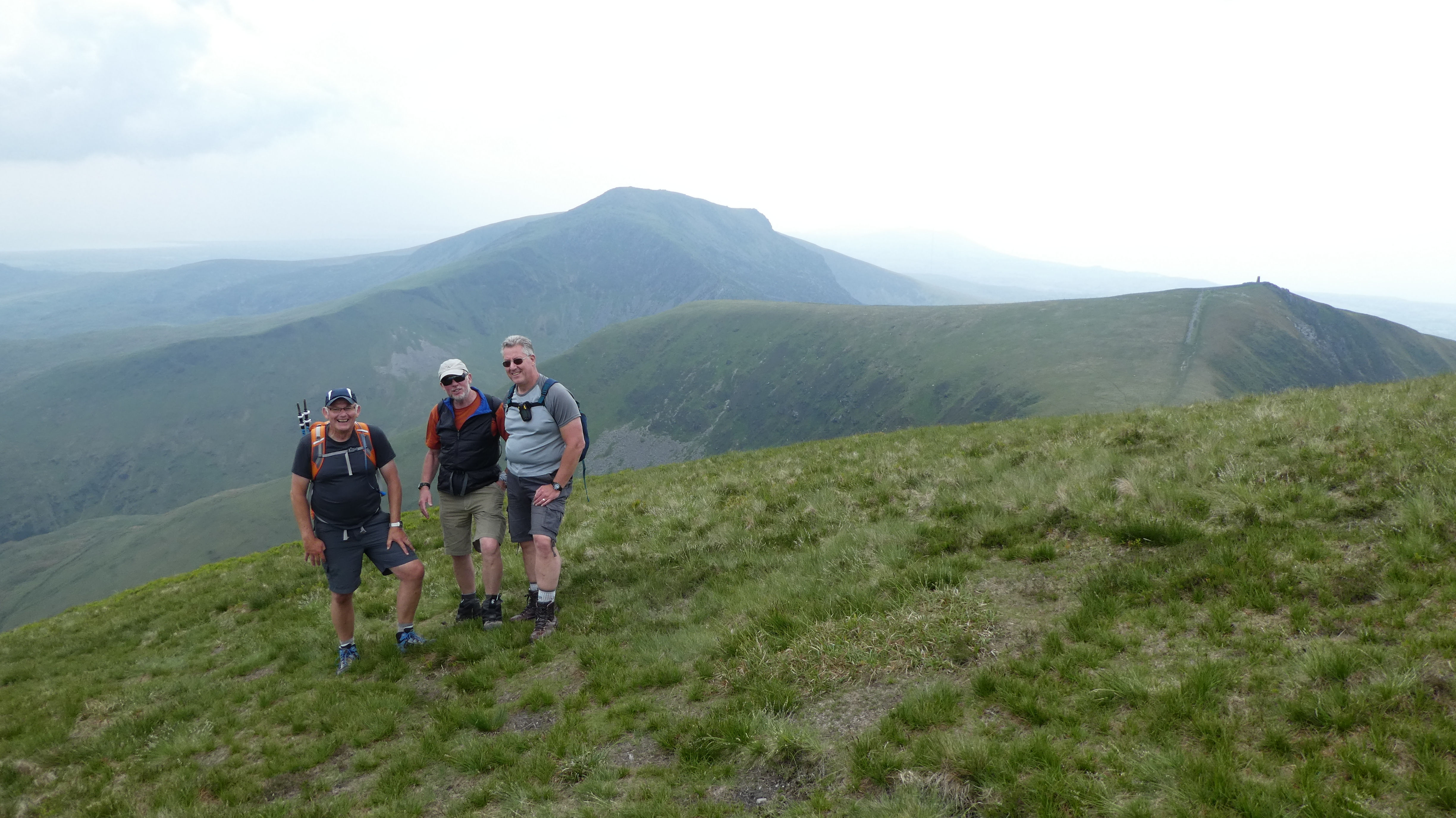 Paul, Andy and Steve after the Nantile Ridge on Friday, Photo by Mike Goodyer