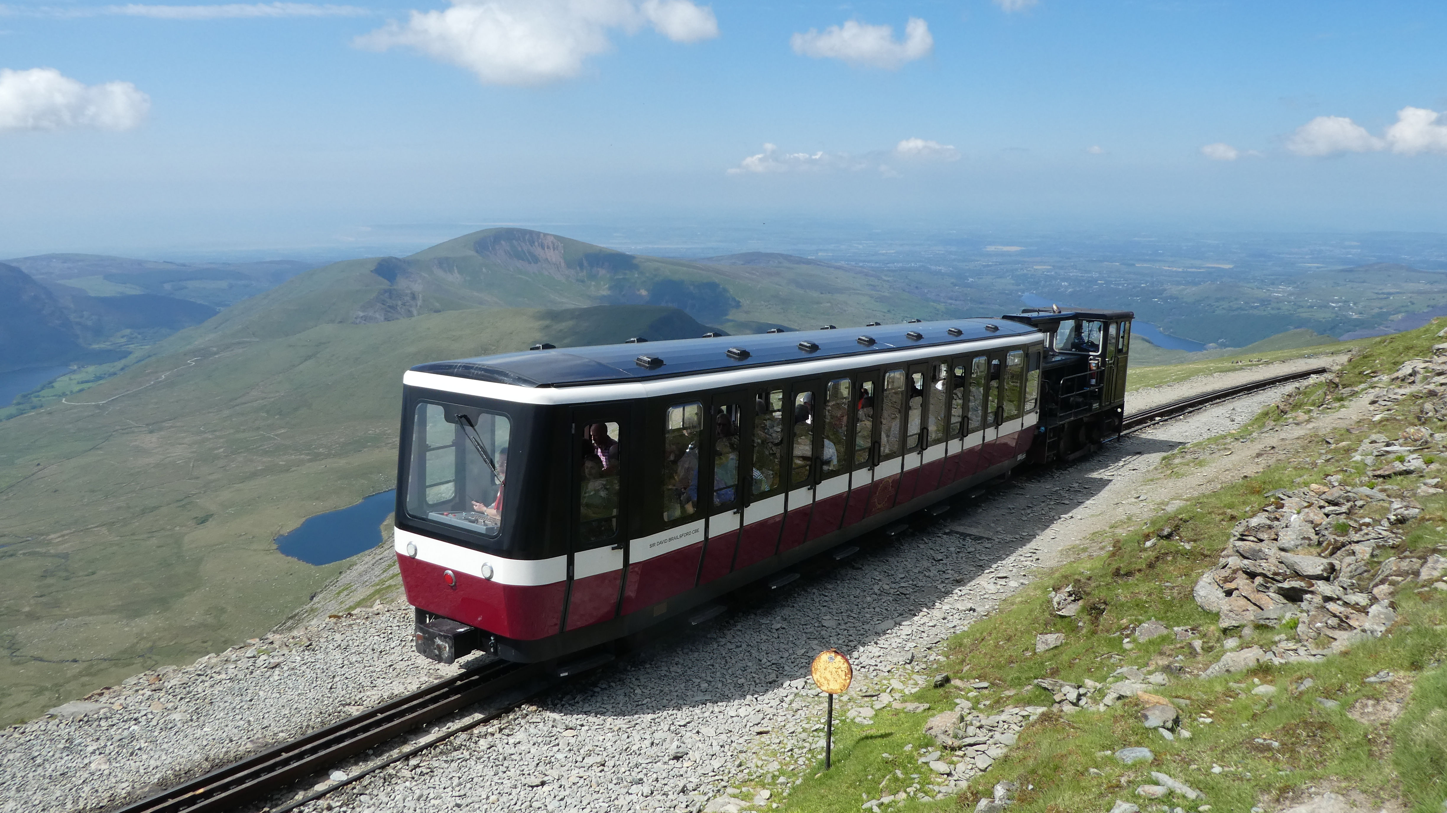 Train taking more people up Snowdon on the Saturday, Photo by Mike Goodyer