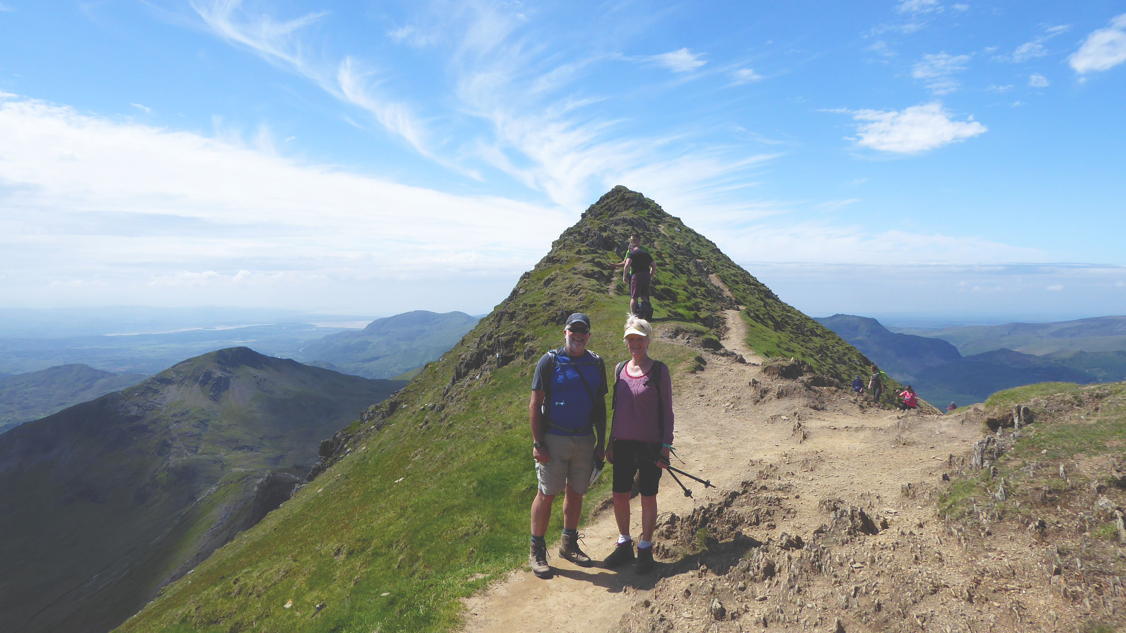 Mike and Heather approaching the top of Snowdon, Photo by Ed Bramley