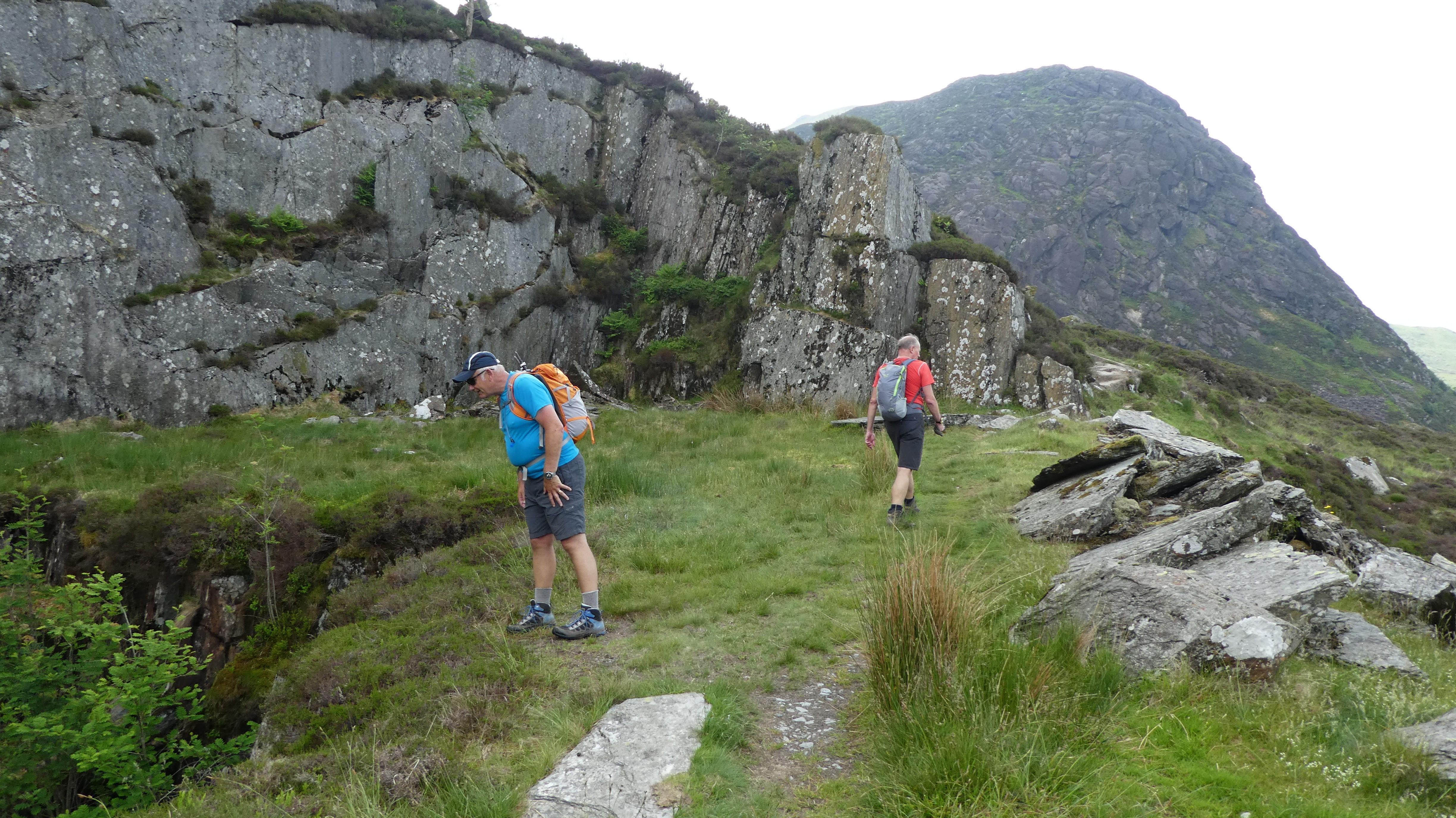 Paul and Ed walking through the quarry on Sunday, Photo by Mike Goodyer